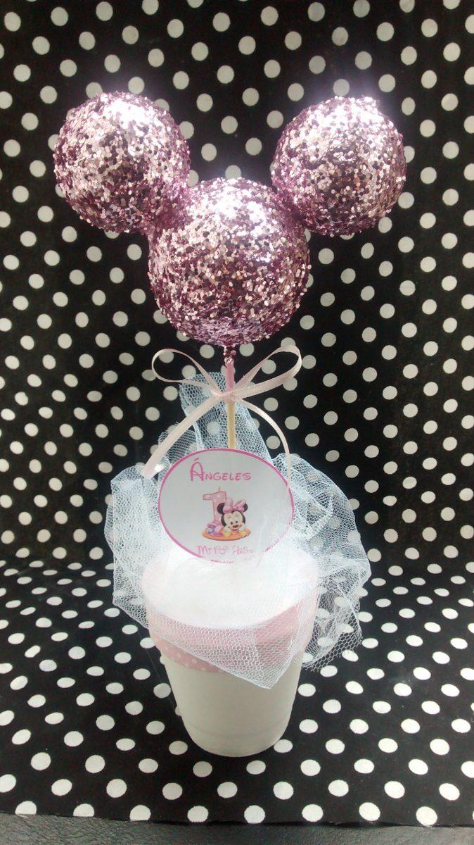 Fiestas Infantiles, Decoración Minnie Mouse, Centros de Mesa