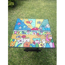 Mesa Plegable Simil Romero Britto