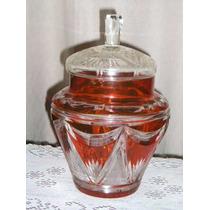 500- Potiche Centro Caramelera 32 Cm Cristal Checoslovaco