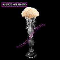 Centro De Mesa De Vidrio Porta Bouquet Para Arreglo Floral