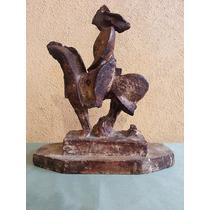 Antigua Escultura Obra Ceramica Yeso Curatella Manes Dragon