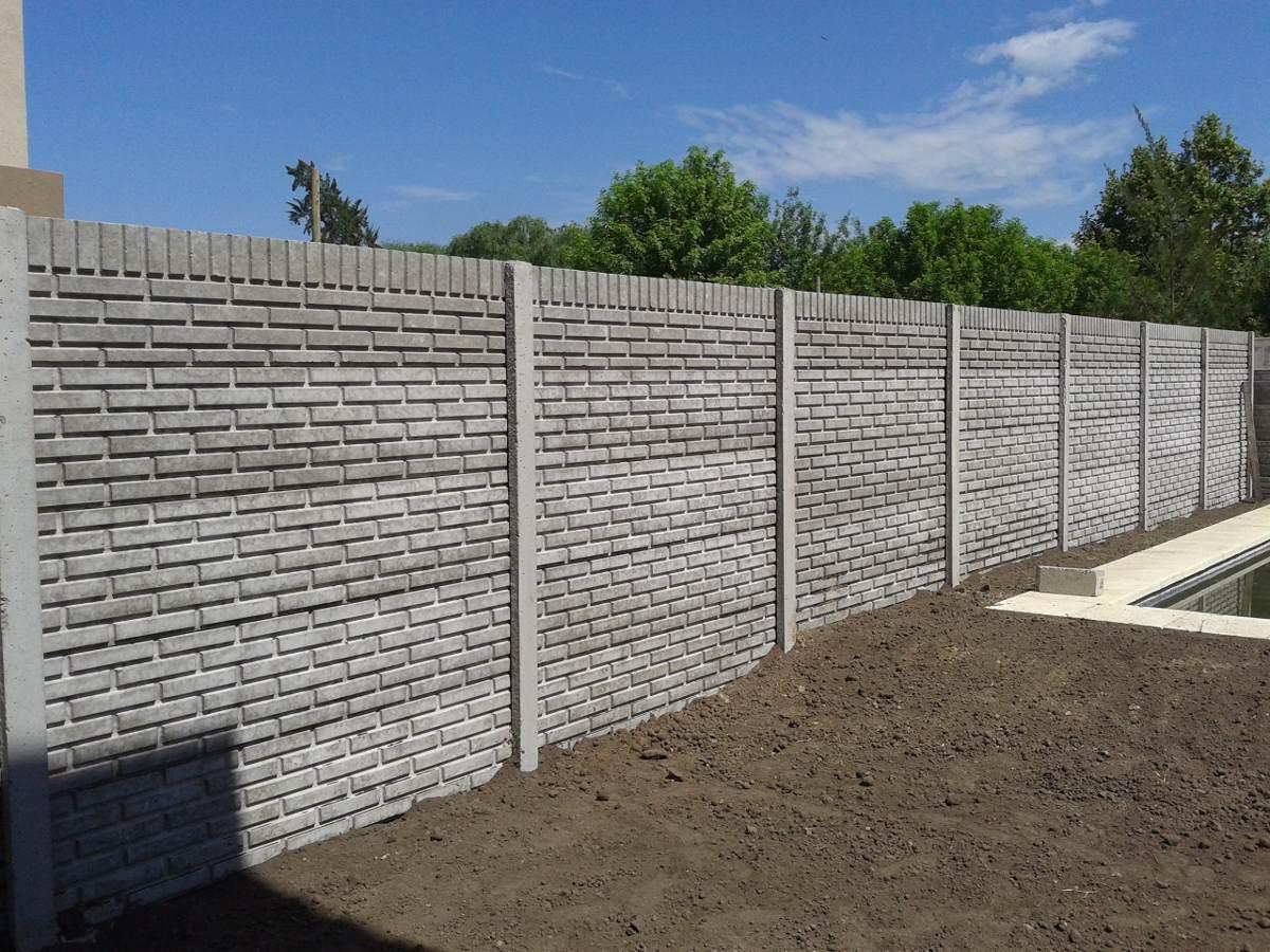 Cerco premoldeado muro pared medianera hormigon pilar 99 99 en mercado libre - Paredes de cemento ...