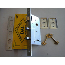 Cerradura Dac 2 Pernos. Compatible Para Rejas Y Puertas