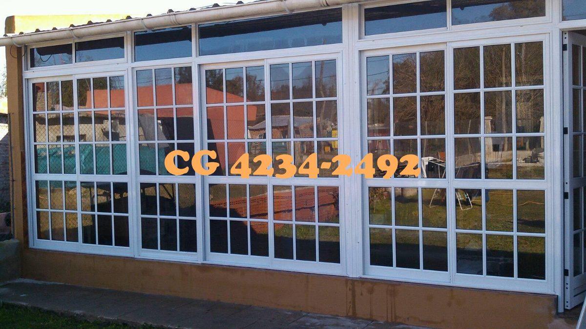 Cerramientos aluminio balcon quincho galeria techos - Cerramiento de galerias ...