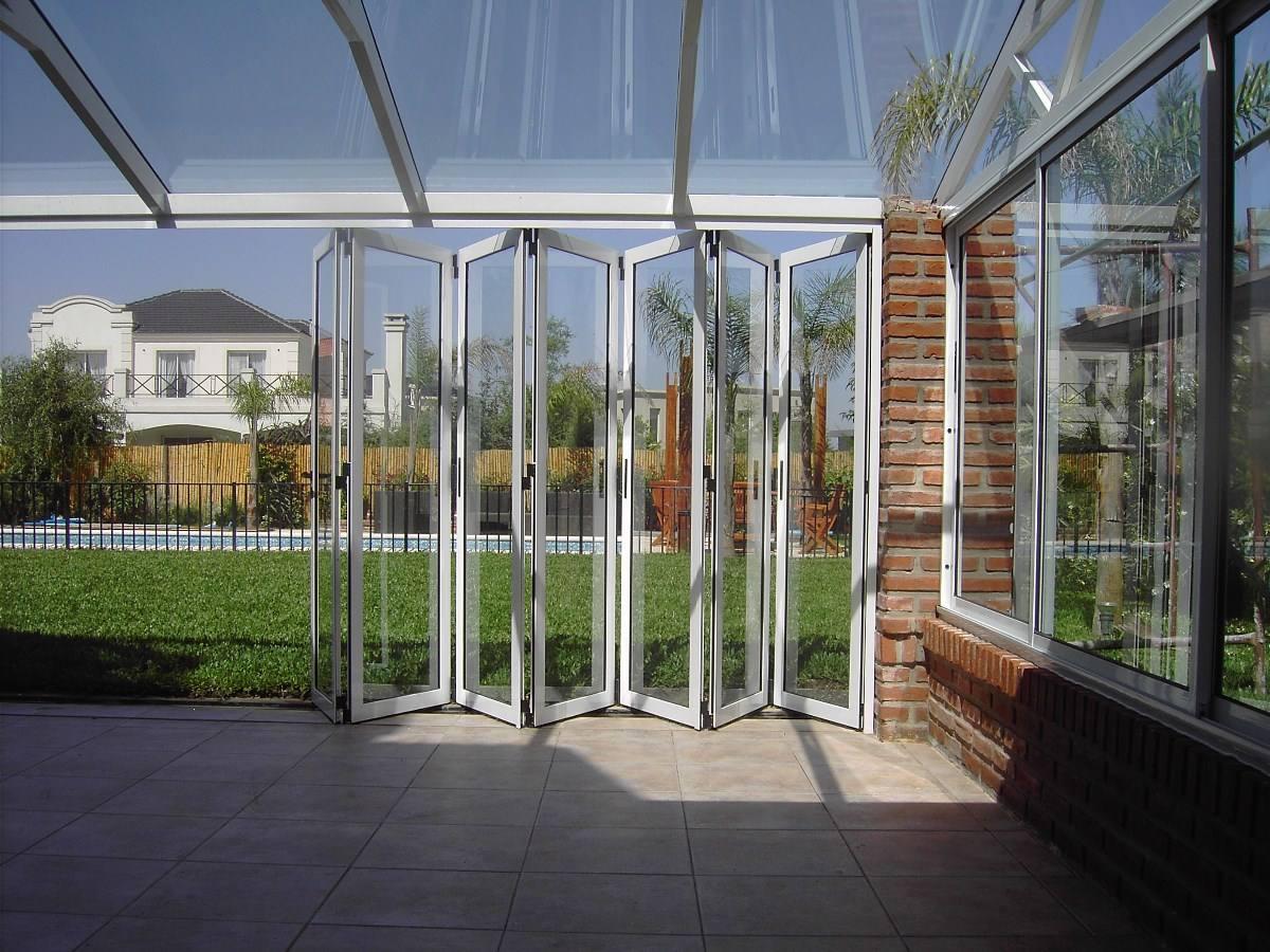 Cerramientos plegadizos puertas plegadizas divisores - Cerramientos de aluminio para porches ...