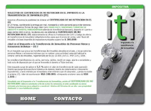 Certificado De No Retencion Iti En 24 Hs.