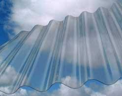 Chapa transparente de policarbonato