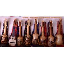 Charango Profesional De Madera Tallado De Luthier