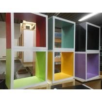 Cubos Melamina Biblioteca 40*40*30 Color A Eleccion