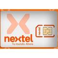 Chip Tarjeta Sim Nextel Prepago Activo Carga Virtual Promo
