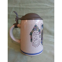 Antiguo Chopp Cerveza Tankard Art Nouveau Aleman Impecable !