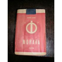 Atado Lleno Cigarrillos Morava Paquete Etiqueta Coleccion