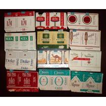 Lote De 12 Etiquetas De Cigarrillos Importadas Antiguas