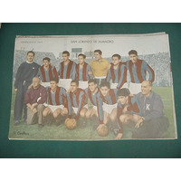 Poster Antiguo Original San Lorenzo De Almagro Campeonato 57