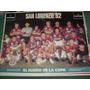 Poster Original Futbol San Lorenzo Almagro 1992 Sueño Copa