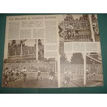 Clipping Futbol 1942 Estudiantes Gimnasia Y Esgrima La Plata