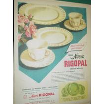 Publicidad Antigua Vajilla Nuevo Rigopal Marfil Rigolleau M1