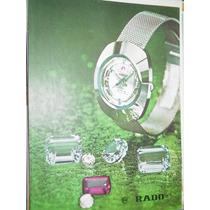 Publicidad Relojes Reloj Rado Piedras Preciosas