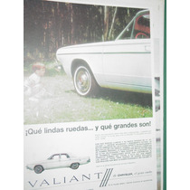 Publicidad Automoviles Valiant Chrysler Lindas Ruedas Grande