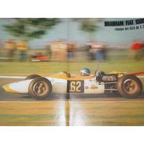 Brabham Fiat 1500 Equipo Aca Formula 2 Poster Automovilismo
