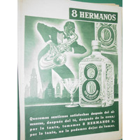 Publicidad Bebida Licor 8 Hermanos Botella Saxo Color Verde