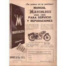 Publicidad Manual Matchless (115) Reparacion De Motos