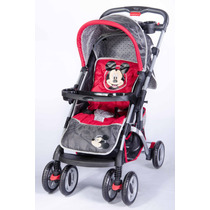 Coche Cuna Bebe Disney Manija Revatible Asiento Reclinable