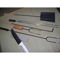 Set Accesorio Asador 7 Piezas ,pala, Atizador,cuchillo,