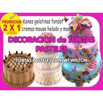 Kit Decoracion De Tortas Pasteles Fondat Wilton Promo 2x1