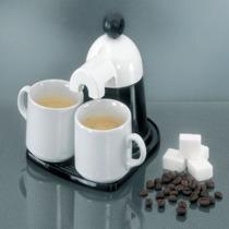 Mini Cafetera Italiana La Original Expres Diseño Retro Blanc