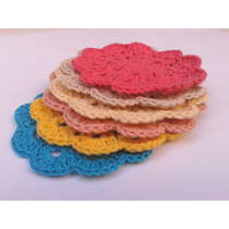 Posavasos Set X 6 Tejidos Al Crochet Envio Gratis!
