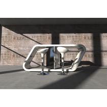 Desayunador Barra Moderno Laqueado Minimalista Mesa Laqueada