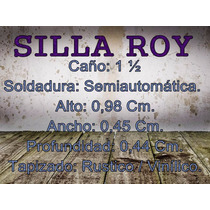 6 Sillas De Caño Roy ( Venta Por Mayor Y Menor )