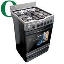 Cocina Multigas Philco Acero Encendido Electrico Luz Y Temp