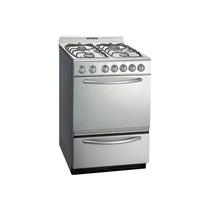 Cocina Domec Tecno 56cm Multigas Luz Y Encendido Timer Acero