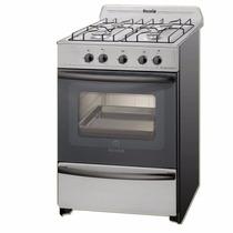 Cocina Escorial Master Acero Inox. Gas C/ Valvula Facil Limp