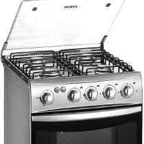 Cocina A Gas Patrick 9551 51 Cm Encendido Luz Tapa Vidrio
