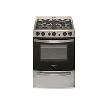 Cocina Multigas Whirlpool Wfx56eg Inox 55cm 4 Hornallas
