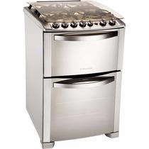 Cocina Electrolux 56 Dtx Doble Horno, 4 Hornallas, Acero