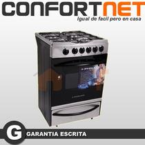 Cocina De Acero Inox Philco Cg Ph 55 Cm Encendido Autolimpia