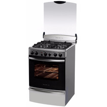 Cocina Orbis A Gas 55cm Acero Inox Con Tapa De Vidrio Nueva!