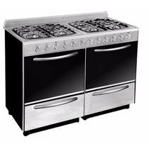Cocina A Gas Domec 120 Cm 8 Hornallas Acero Inox Cxclfwv