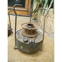 Antiguo Calentador Bram Metal N°3 Hornalla Mechero Bronce