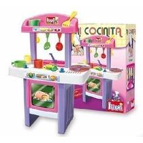 Cocina Nena Infantil 22 Accesorios Microcentro