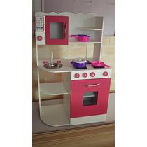 Cocinita infantil de madera luz cocina juguete casita juegos - Cocinas infantiles madera ...