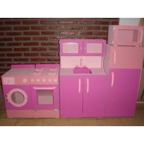 Mueble Infantil Kit Completo Con Alacena Cocina Bajomesada