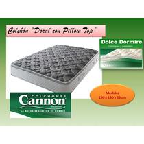 Colchon Cannon Doral Pillow 190 X 140 X 33 Oferta!!!