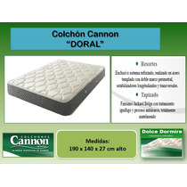 Colchon Resortes Cannon Doral - Medidas 190 X 140 Oferta!