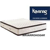 Colchon Kavanagh 130x190 Alta Densidad 35kg Doble Pilow 30cm