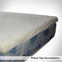 Pillow Top Viscolastico De 4cm Espesor. Desmontable 80x190cm